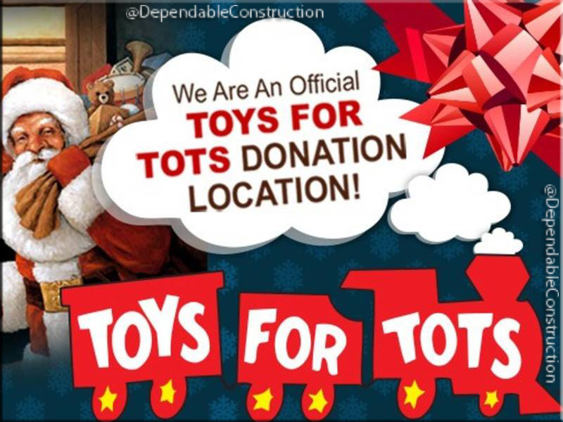 5pm Today, closing Toys for Tots